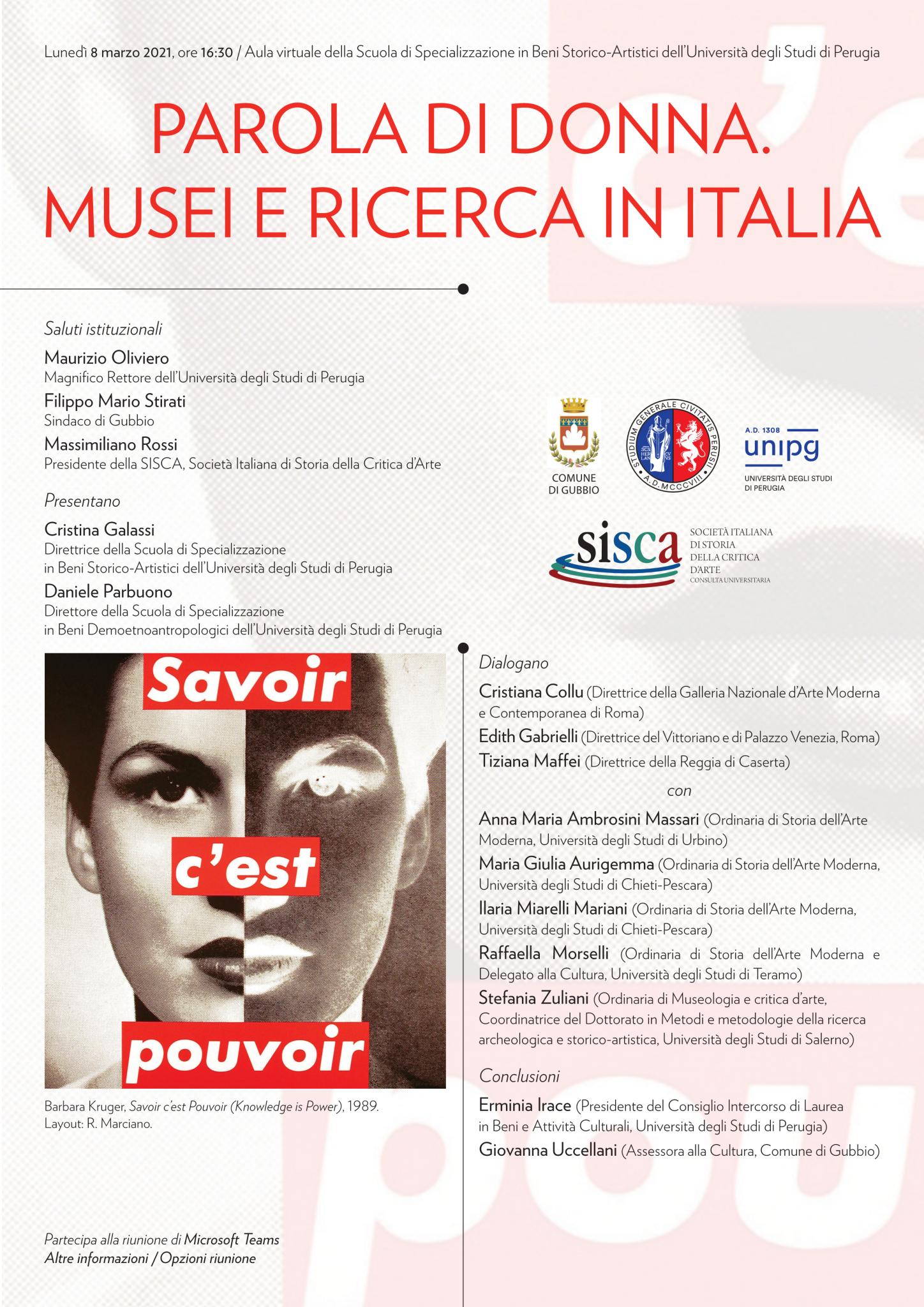 Parola di donna – Musei e ricerca in Italia